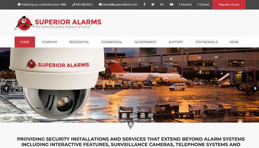 Alarm Company SEO Website