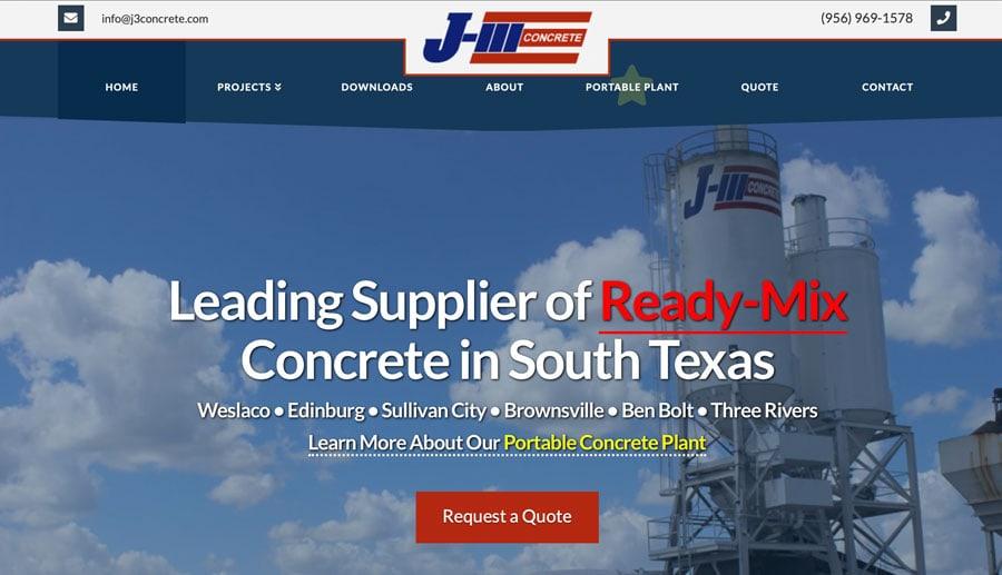 Concrete Company SEO Website